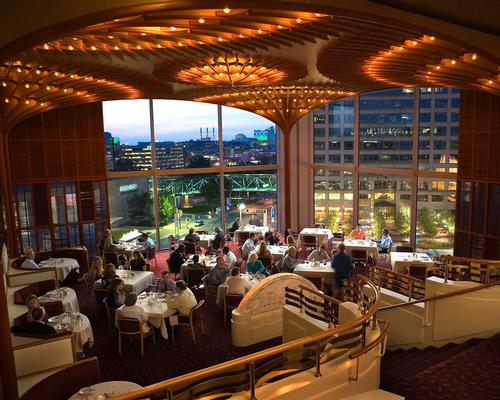 The American Restaurant opened on Valentine's Day 1974 atop Crown Center in Kansas City