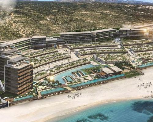 Solaz Resort will be operated by Qunta del Golfo de Cortez, and will include 128 hotel bedrooms and 21 residences on 34 acres overlooking the Sea of Cortez in Mexico.
