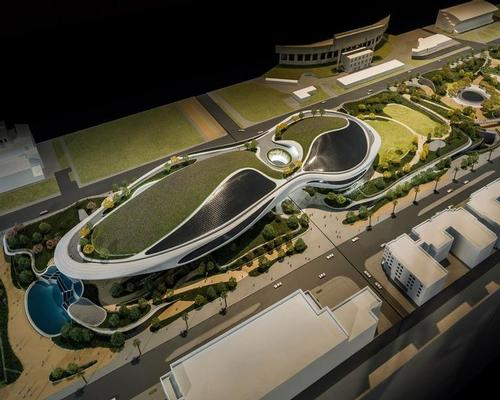 MAD Architects' Ma Yansong is behind the building's futuristic design, which will transform a series of asphalt parking lots into an organic, streamlined form / Lucas Museum of Narrative Art