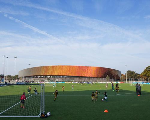 FaulknerBrowns create twisting 'Tardis-like' sports campus in The Hague's historic Zuiderpark