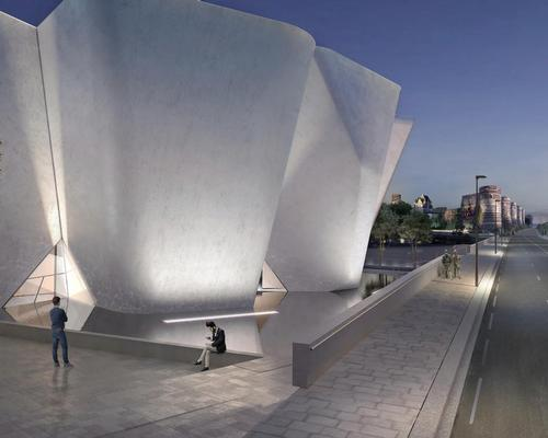 Collaborating with Parisian real estate firm Compagine de Phalsbourg, Holl's design for the museum is inspired by the historic Chateau d'Angers / Steven Holl Architects, Compagnie de Phalsbourg and XO3D