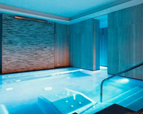 The Aleph Spa is located in the basement and includes a thermal whirlpool, Finnish sauna, emotional showers, a heated indoor pool / Wellness & Spa Solutions