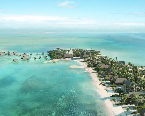 The resort will include 100 guest rooms and suites designed by Studio Caban, including a collection of overwater bungalows / Four Seasons