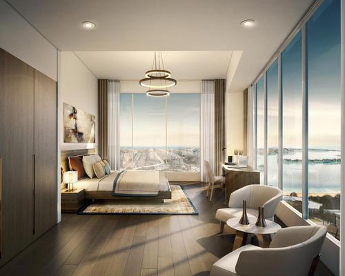 Designed by AECOM, the suites and residences will offer floor-to-ceiling windows, interactive living and private terraces featuring views of The Palm or the city