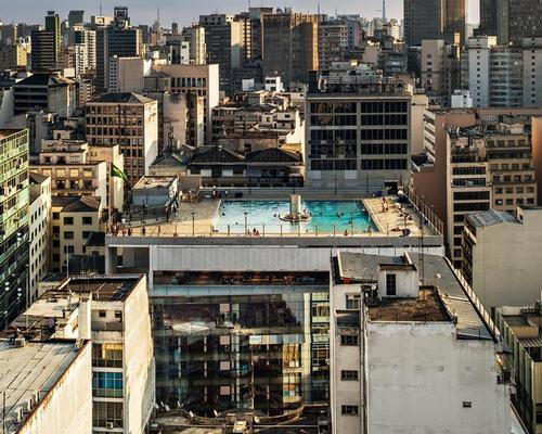 Created for Brazilian non-profit SESC, the 14-storey building, situated on Rua 24 de Maio and Rua Dom José de Barro, has been stripped of several unnecessary elements