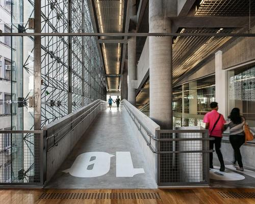 Circulation has been enhanced with the introduction of large ramps connecting each floor, allowing visiotrs to stroll through the building