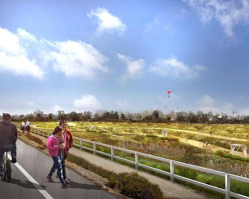 The plan aims to reduce flood risk and turn the basin into a 'healthy, equitable, and sustainable' community / Perkins+Will