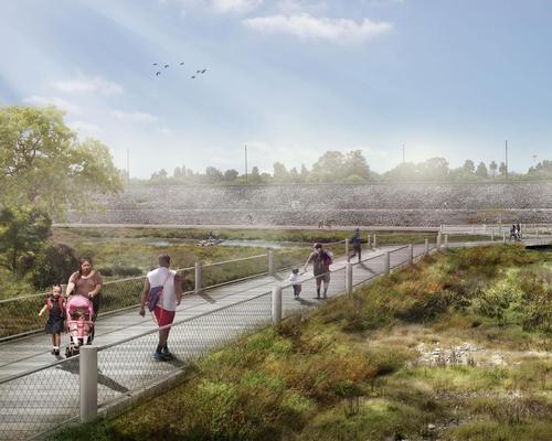 Unlike several other proposals that have outlined High Line-like green-filled trail infrastructure, the LLARRP sets out how incremental alterations to the concrete channel and its banks can be more impactful / Perkins+Will