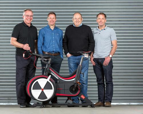 Ian Wilson (second from right) with the Wattbike top team / Wattbike