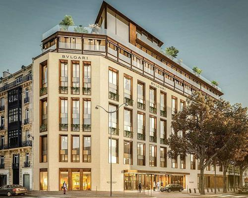 Italian design firm Antonio Citterio Patricia Viel and Parisian architects Valode & Pistre are converting a historic building on Avenue George V for the hotel / Bvlgari