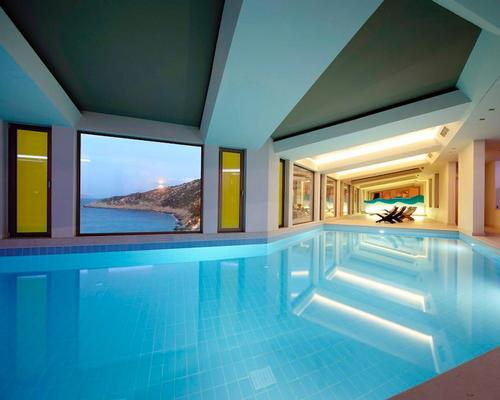 The 2,500sq m GOCO Spa Daios Cove includes eight treatment rooms, a modern gym and movement studio, two indoor pools and a thermal spa suite