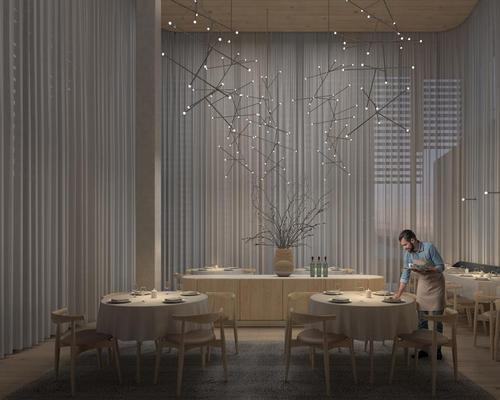 Two restaurants will feature in the planned hotel / Bjarke Ingels Group