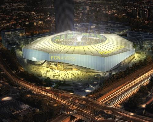 US sports architects HKS and French practice Atelier Tom Sheehan & Partenaires have created the concept for the YelloPark Stadium, which includes a fixed roof with a retractable oculus