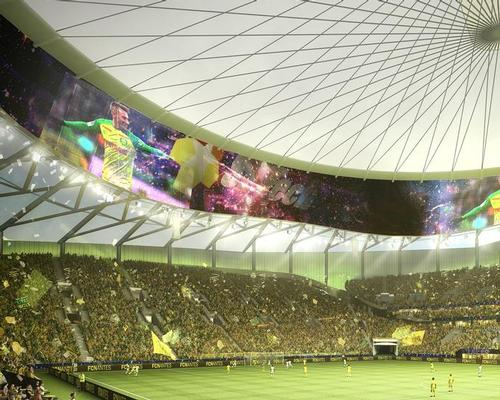The design includes a 360 degree interior screen / FC Nantes