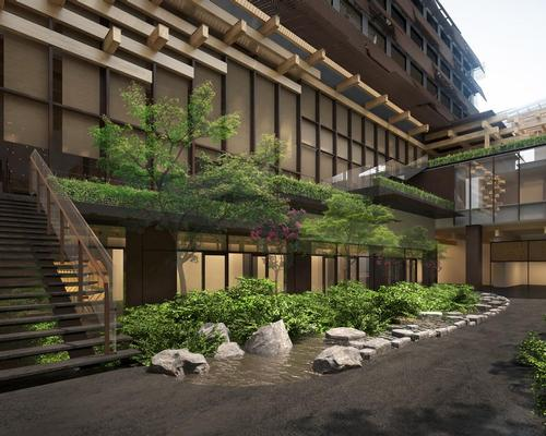 Kengo Kuma commissioned to design a 'monument to the beauty and unique legacy of Kyoto' by transforming the city's 92-year-old former Central Telephone Office into a boutique hotel / ACE Hotels