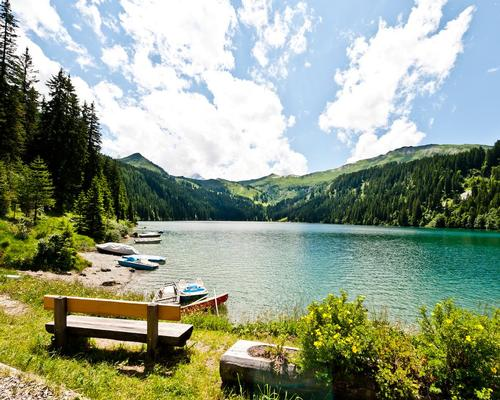 The programme kicks off with a wild swimming session in one of Gstaad's picturesque mountain lakes