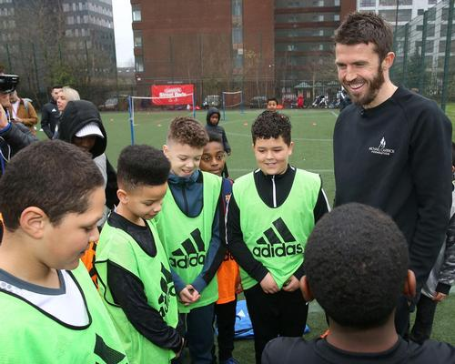 Footballer Michael Carrick launches 'Street Reds' project with Man Utd Foundation