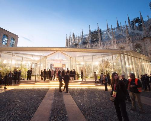 Carlo Ratti's 'Garden of the Four Seasons' pavilion has opened by the Duomo / Salone del Mobile