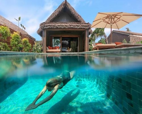 The resort includes 24 villas with private pools as well as 60 residences
