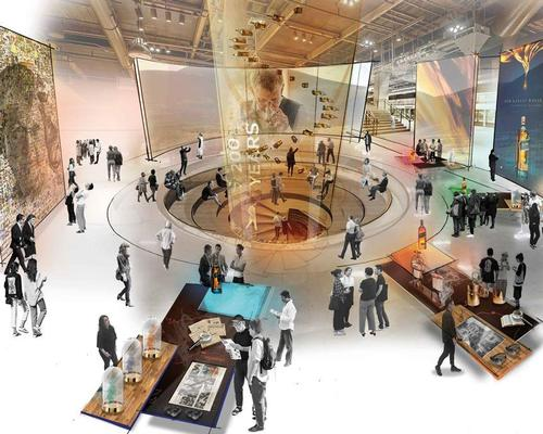 The Johnnie Walker experience will be set over multiple floors, each with whiskies from distilleries that make up the iconic blended brand