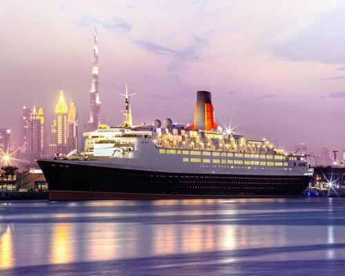 The world-famous vessel, which was decommissioned in 2008, is now docked permanently at Mina Rashid in Dubai