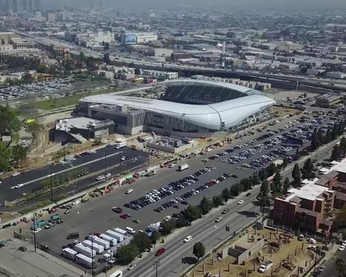 Designed by architect Gensler, the 22,000 capacity Banc of California Stadium is the first new open-air stadium in LA since 1962 / LAFC