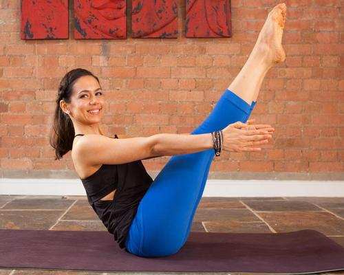 Yoga teacher Celest Pereira leads a yoga session designed to help guests relax