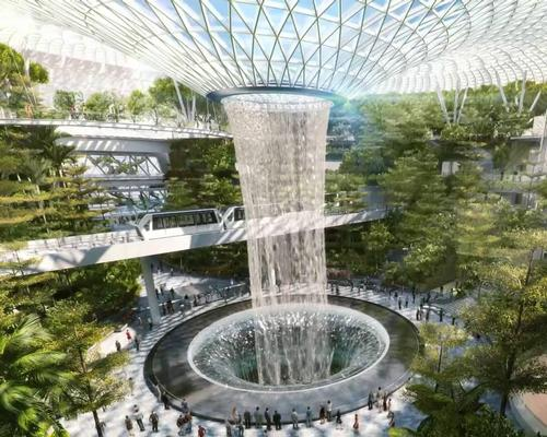 Conceived as the world's most ambitious airport leisure attraction, The Jewel is being built inside an enormous glass dome / Changi Airport