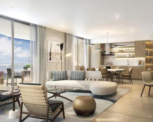 The interior architecture and design is led by Tara Bernerd, with Martin Brudnizki creating the property's restaurants, lounges and pool areas / Four Seasons Hotel and Private Residences Fort Lauderdale