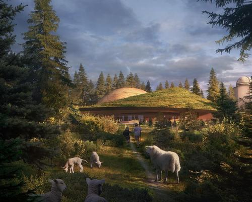 The planetarium will be 1,500sq m (16,100sq ft) in size, and situated next to the observatory's original research tower / Snøhetta