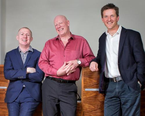 The Massage Company top team: co-founder Elliot Walker (left) with John Holman, director of spa training (centre) and Charlie Thompson, operations director and co-founder (right)
