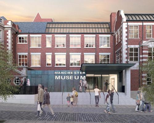 The design team have designed a contemporary new entrance and two new galleries, which will double the capacity of the museum / Purcell