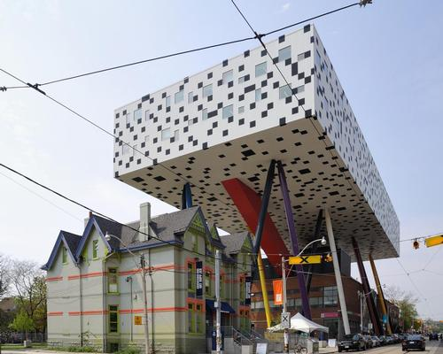 One of Alsop's best-known creations is a raised building for Ontario College of Art & Design