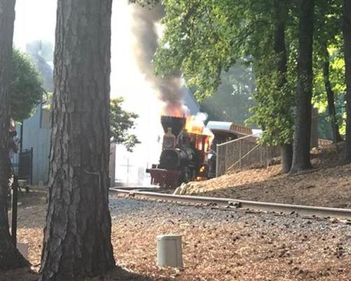 Three treated after fire at Six Flags Over Georgia
