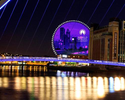 The Newcastle observation wheel will feature a 10,000 sqm LED digital screen at its centre