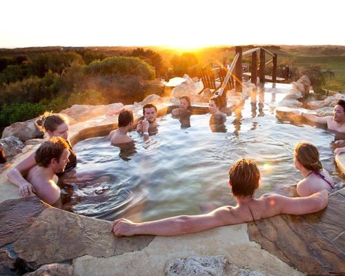 At Australia's Peninsula Hot Springs, a full day of storytelling and bathing activities will begin with a spiritual sunrise ceremony at the Hilltop Pool