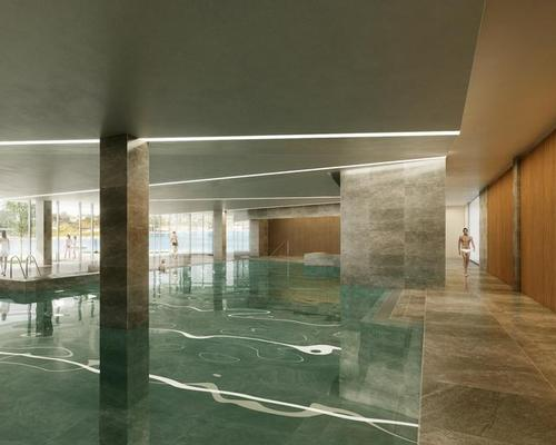 Facilities in the spa and wellness area will include a 160sq m (1,700sq ft) indoor pool