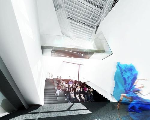 Spaces are configurable to host exhibitions, gatherings and performances / Morphosis