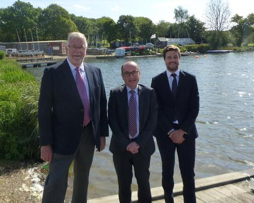 Robin Loader, chair of Finesse Leisure; WHBC councillor Tony Kingsbury; and Joe Rham, regional director of Greenwich Leisure