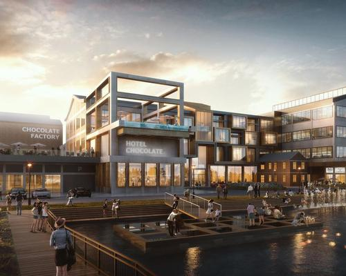 Woods Bagot have completed a 78,800sq m (848,000sq ft) master plan that features a boutique chocolate-themed hotel, a chocolate factory, a wedding venue and a sugar industry museum / Woods Bagot