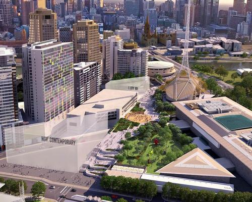 To be built next door to the National Gallery of Victoria as part of a new arts precinct, the NGV Contemporary site would be developed at a cost of AU$151m
