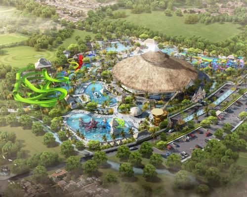 The waterpark will sit at the southernmost tip of the island and will feature a selection of rides and slides