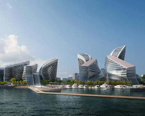 Zaha Hadid Architects (ZHA) will transform Novorossiysk, Russia's largest shipping port, adding dramatic buildings, public spaces and amenities / VA