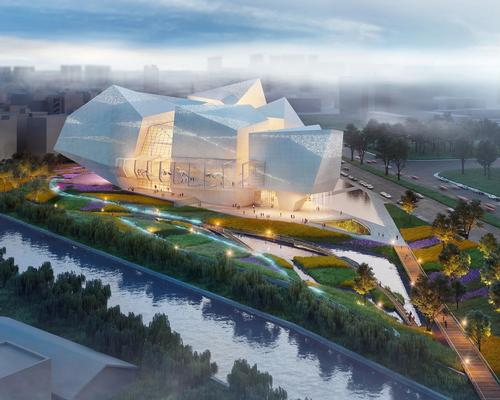 Pelli Clarke Pelli Architects have won the international design competition for the Chengdu Natural History Museum in Chengdu, China / Steelblue