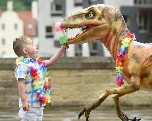 Dynamic Earth using mixed reality to bring dinosaur creations to life