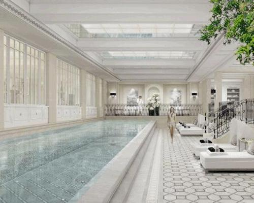 The new Le Spa is spread over 720sq m s (7,750sq ft), and has been designed by Parisian interior designer Pierre-Yves Rochon
