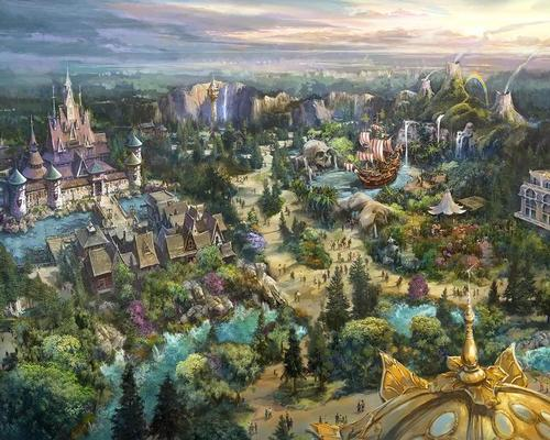 The port, says Disney, is inspired by a magical spring, which will open up into each of the Disney worlds