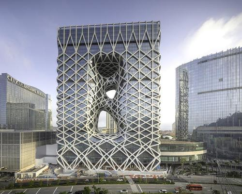 The newly-opened Morpheus Hotel in Macau, designed by Zaha Hadid Architects / Simon Bertrand