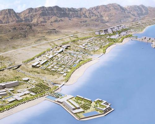 """ An upgraded beachside promenade will link all the new amenities across the resort / Moshe Safdie Architects"
