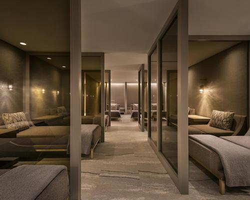 The dedicated relaxation area is part of the renovation created with the help of Spa Strategy